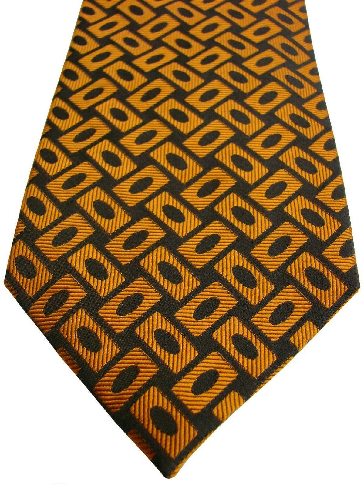 Van Laack Mens Tie Gold Rectangles Brandinity