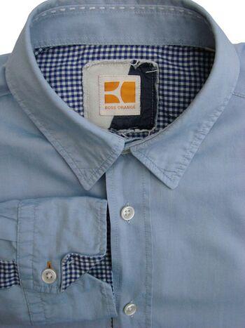 9e7da031 HUGO BOSS ORANGE Shirt Mens 15 S Blue - Brandinity