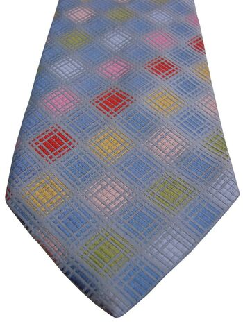 FRANGI Mens Tie Multi-Coloured Squares