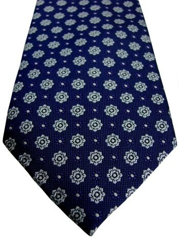MARKS & SPENCER M&S AUTOGRAPH Tie Purple - White Flowers SKINNY NEW BNWT