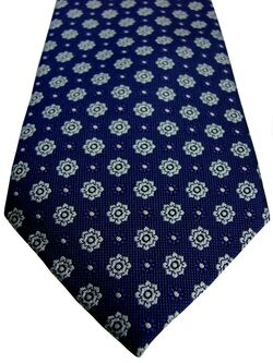 MARKS & SPENCER M&S AUTOGRAPH Mens Tie Purple - White Flowers SKINNY NEW BNWT