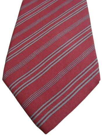 GIORGIO ARMANI Tie Salmon – Grey Stripes
