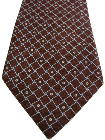 BVLGARI - SEVENFOLD Tie Brown - Squares