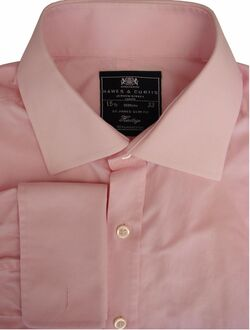 HAWES & CURTIS HERITAGE Shirt Mens 15.5 M Pink ST JAMES SLIM FIT