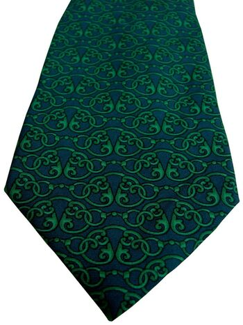 TED LAPIDUS Tie Dark Blue – Green Link Design