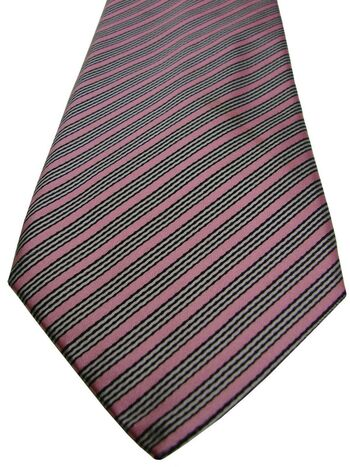 CHARLES TYRWHITT Tie Pink – White & Black Stripes