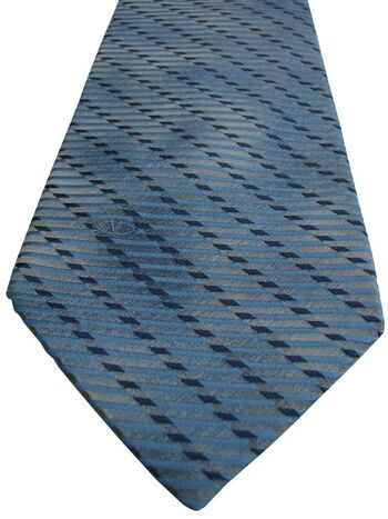 VALENTINO Mens Tie Blue - Mottled Check