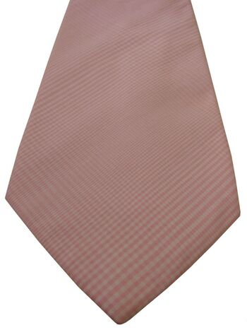TM LEWIN Mens Tie Pink White Check
