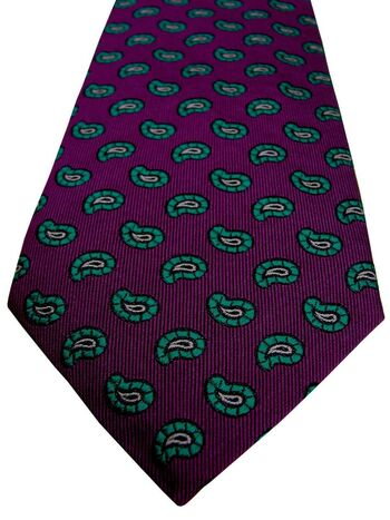 CHARLES TYRWHITT Tie Purple – Green Tear Drops NEW