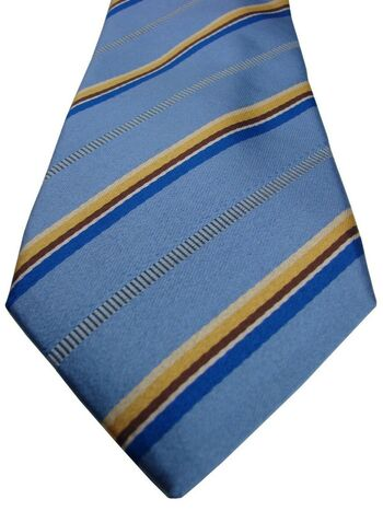 CHARLES TYRWHITT Mens Tie Light Blue – Multi-Coloured Stripes NEW