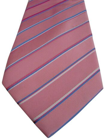HAWES & CURTIS Mens Tie Pink – Multi-Coloured Stripes