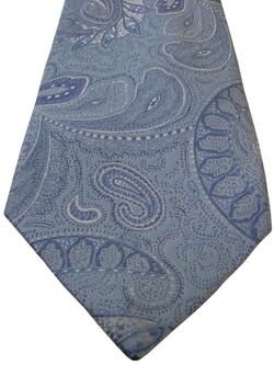 TM LEWIN Mens Tie Blue - Paisley