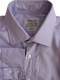TM LEWIN 100 Shirt Mens 15.5 M Lilac SLIM FIT