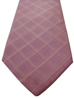 TM LEWIN Mens Tie Pink – White Check