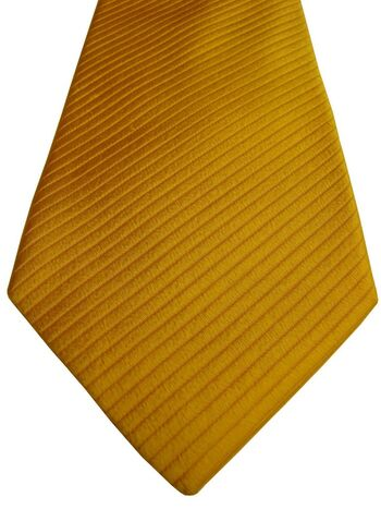 RICHARD JAMES Mens Tie Yellow – Diagonal Ribbed Stripes