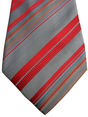 TM LEWIN Tie Blue – Multi-Coloured Stripes