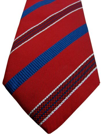 HILDITCH & KEY Tie Red – Blue & White Stripes
