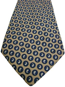 GIEVES & HAWKES Mens Tie Pale Yellow – Tear Drop Polka Dots