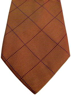 AUSTIN REED Mens Tie Multicolored Check