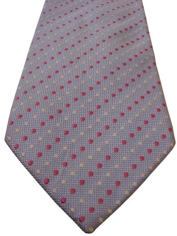 TM LEWIN Mens Tie Light Blue – Pink & White Polka Dots