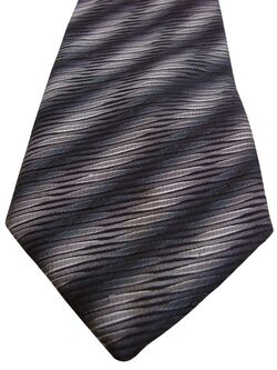 EDWARD BAKER Mens Tie Black Blue - Design