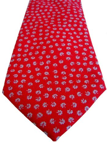 CHARLES TYRWHITT Mens Tie Red - Flowers NEW BNWT