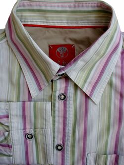 FAT FACE Shirt Mens 16.5 M Multi-Coloured Stripes