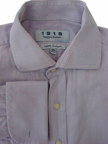 1919 STEPHENS BROTHERS Shirt Mens 16 M Lilac