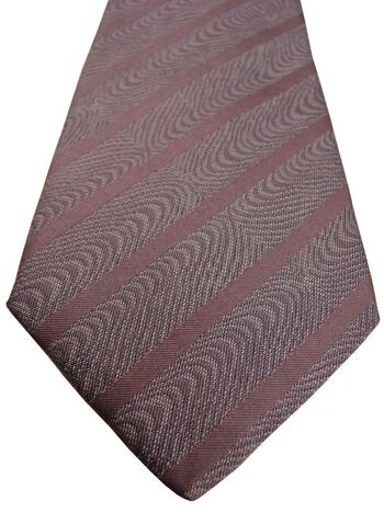 REISS Mens Tie Swirls & Stripes SKINNY