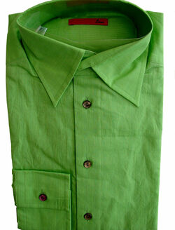 ETON Shirt Mens 15 S Green NEW