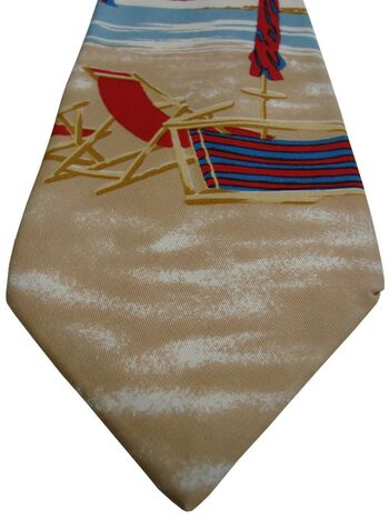GANT Mens Tie Summer Beach Scene