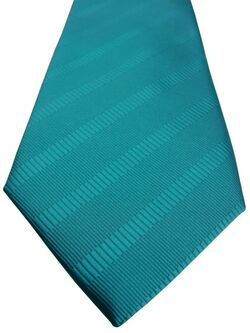 CHARLES TYRWHITT Mens Tie Turquoise Stripes NEW