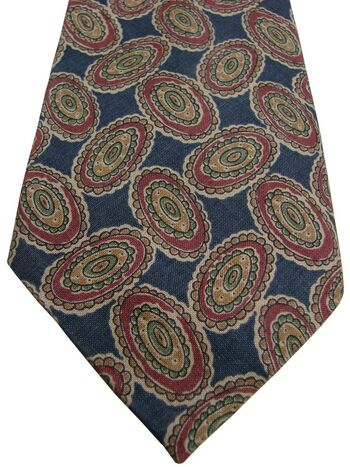 AUSTIN REED Mens Tie Concentric Ovals