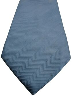 HAWES & CURTIS Mens Tie Blue - Stripes HERRINGBONE