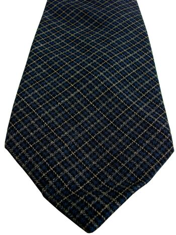 MASSIMO REBECCHI Mens Tie Multi-Coloured Check Wool LAMBSWOOL NEW