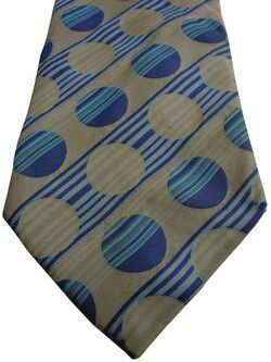 KENZO HOMME Mens Tie Blue & Off-White Polka Dots