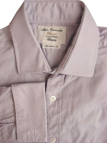 JOHN FRANCOMB CLASSICS TM LEWIN Shirt Mens 15.5 M Lilac FULLY FITTED