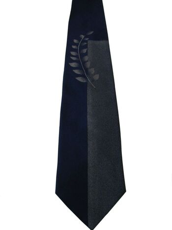 SIMON CARTER Mens Tie Blue Low Leaf