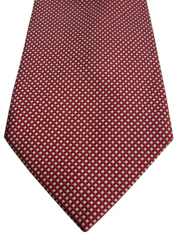 HAWES & CURTIS Mens Tie Red & White Squares