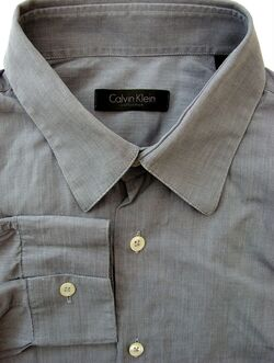 CALVIN KLEIN Shirt Mens 16 M Grey