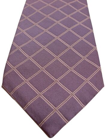 FACONNABLE Tie Lilac – White Check