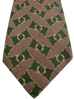 EMPORIO ARMANI Mens Tie Brown - Trapeziums