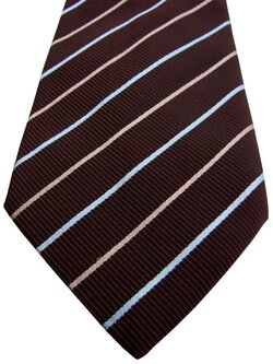 GANT USA Tie Brown – Light Blue & Beige Stripes