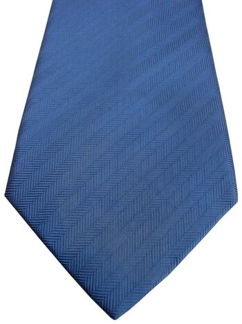 TM LEWIN Mens Tie Blue - Herringbone Stripes