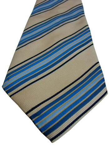 CHARLES TYRWHITT Tie Gold - Blue Stripes
