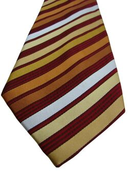 TED BAKER KNOTTED Mens Tie Burgundy & Multi-Coloured Stripes