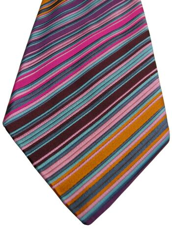 DUCHAMP LONDON Mens Tie Multi-Coloured Stripes