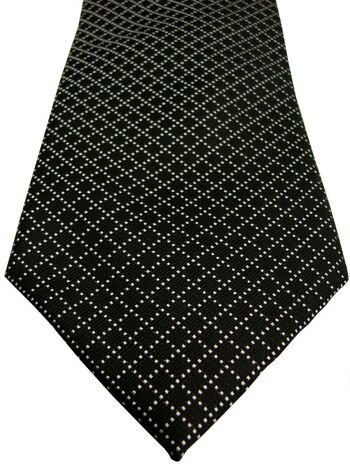 RACING GREEN Tie Black - White Check NEW