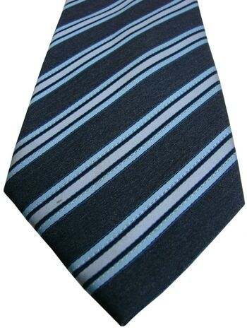 MARKS AND SPENCER M&S Mens Tie Blue Stripes