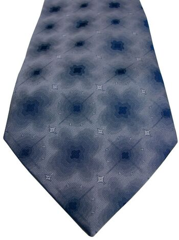 SIMON CARTER Mens Tie Bluey Grey Blur NEW BNWT